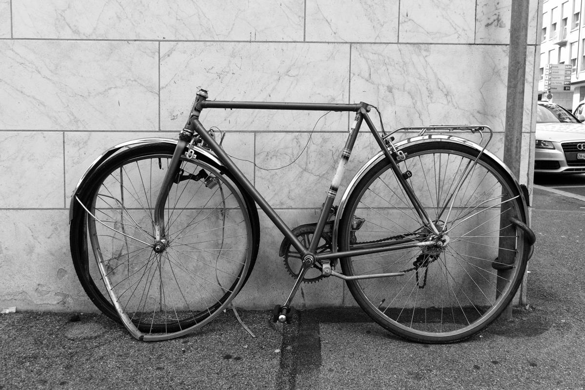 der vandalismus am fahrrad