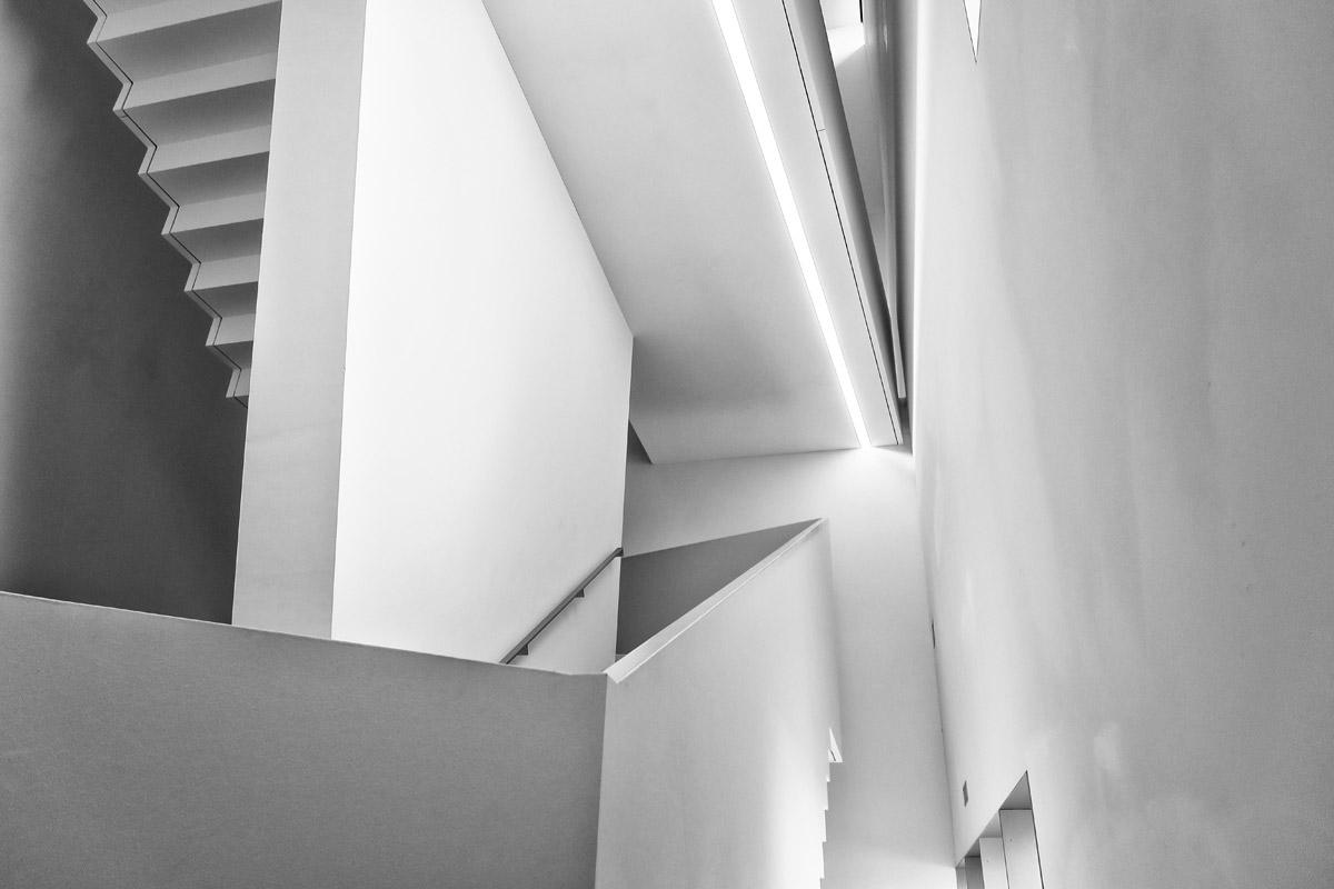 treppen und höhenunterschiede, architekur für ein museum, franz gertsch museum, burgdorf