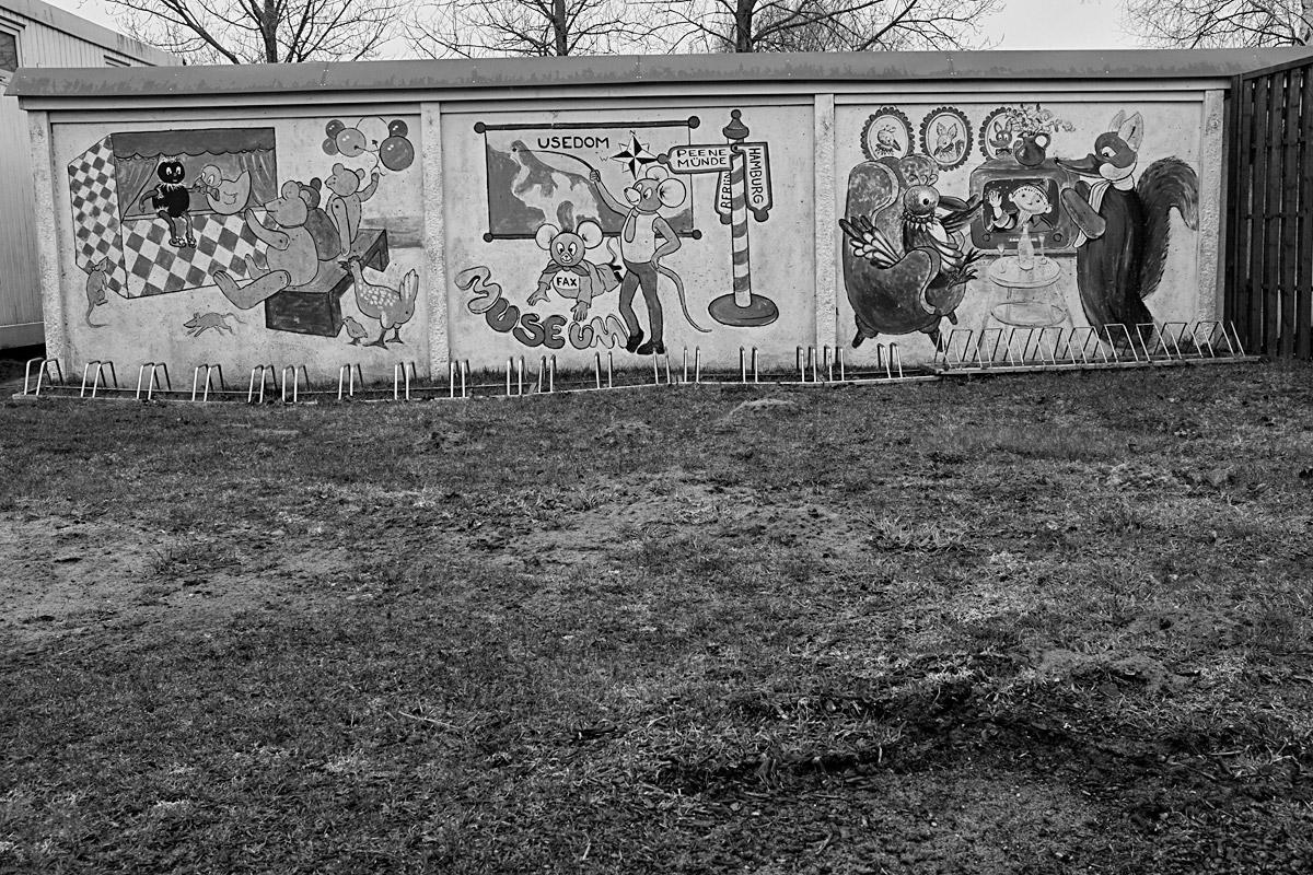 graffiti neben der nazi heeresversuchsanstalt peenemünde