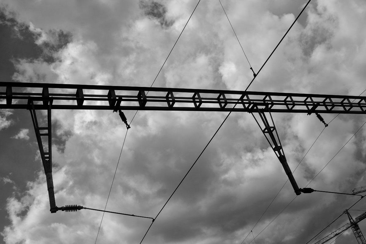 eisenbahn oberleitung im europäischen streckennetz