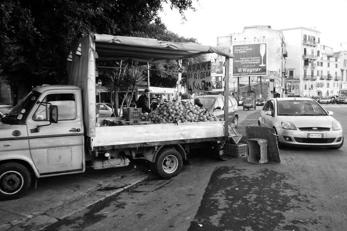 detailhändler für früchte und gemüse, palermo