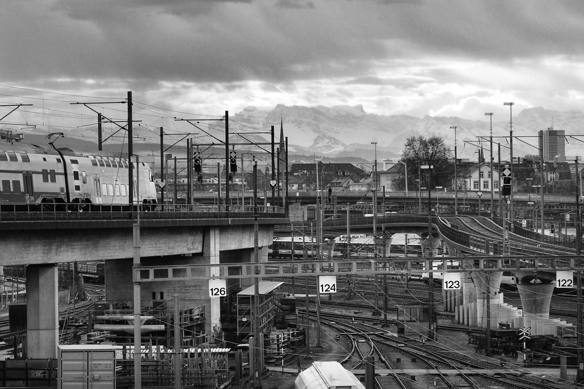 eisenbahn infrastruktur auf der alpennordseite