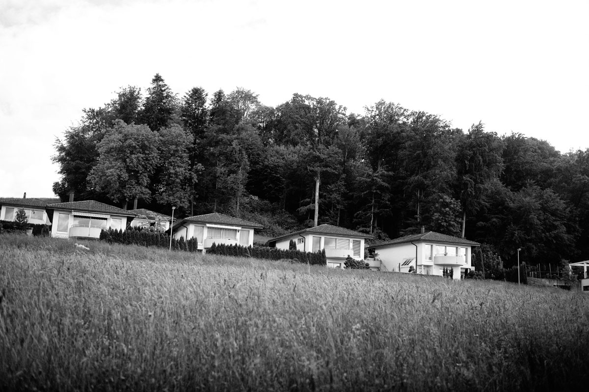 eigenheim am kornfeld, wo sich siedlung und landwirtschaft im vorort trifft